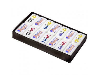 Professional Size Numeral 6 Dominoes