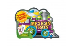 Mexican Train Deluxe Domino Set With Numbers In Collectable Tin