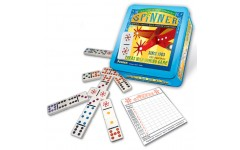 Spinner Double 9 Dominoes With Wild Tiles In Collectable Tin