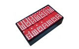 Double Nine Engraved Dominoes in Arcadian Black Box with Spinner