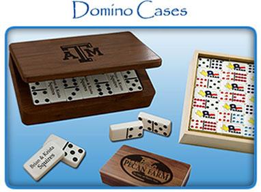 Custom Dominoes | Personalized Dominoes | Monogram Dominoes | Imprinted Dominoes | Engraved Cases | Gifts